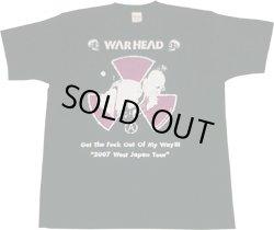 画像1: WARHEAD / Tour T-shirt 2007 黒×白×紫